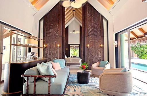 Wohnzimmer Beach Villa, JOALI Maldives