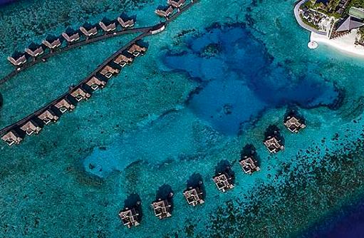 Vogelperspektive der Insel, Jumeirah Vittaveli, Maldives