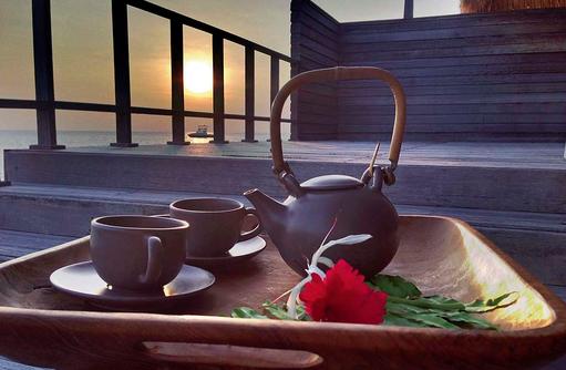 Teatime im Talise Spa, Jumeirah Vittaveli, Maldives