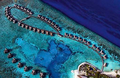 Drohnenaufnahme des Jumeirah Vittaveli, Maldives