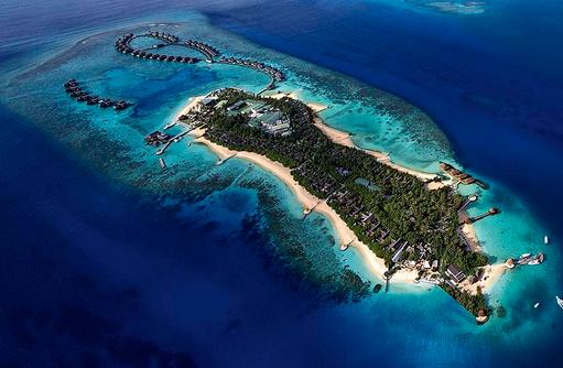 Ganze Insel von oben, Jumeirah Vittaveli, Maldives