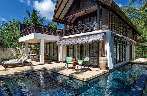 Privater Pool in der Beach Suite, Jumeirah Vittaveli, Maldives