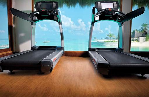 Laufband im Talise Fitness Centre, Jumeirah Vittaveli, Maldives