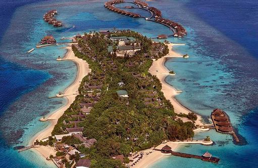 Gesamtblick der Insel, Jumeirah Vittaveli, Maldives