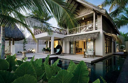 Beach Suite von Außen, Jumeirah Vittaveli, Maldives