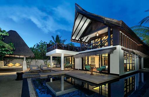 Außenbereich der Beach Suite, Jumeirah Vittaveli, Maldives