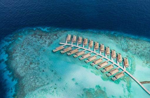 Aerial Lagoon Pool Villas, Kagi Maldives SPA Island