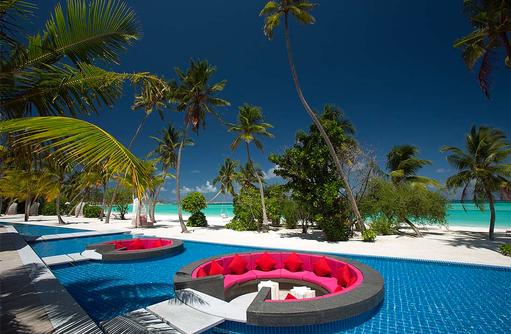Breeze Bar, Loungebereich, Kandima Maldives
