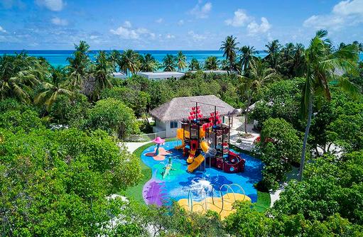 Vogelperspektive, Drohnenaufnahme, Kandi Land, Kids Club, Kandima Maldives