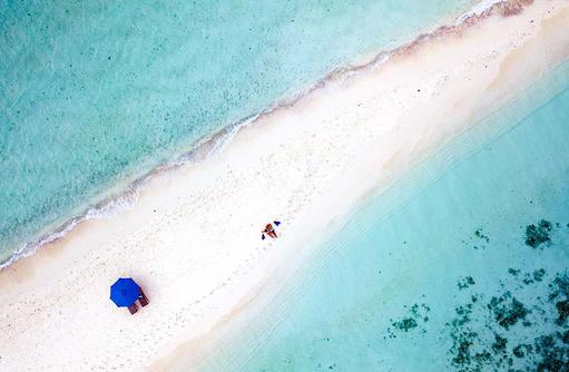 Sandbank von oben | Kandolhu Maldives