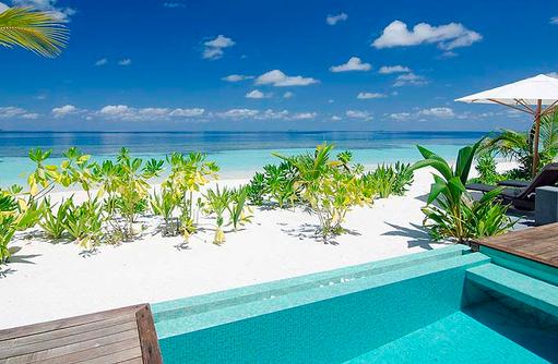 Blick auf den Strand von der Pool Villa | Kandolhu Maldives