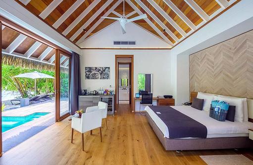 Schlafraum in der Pool Villa | Kandolhu Maldives