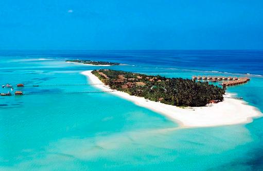 Luftaufnahme Insel I Kanuhura Maldives
