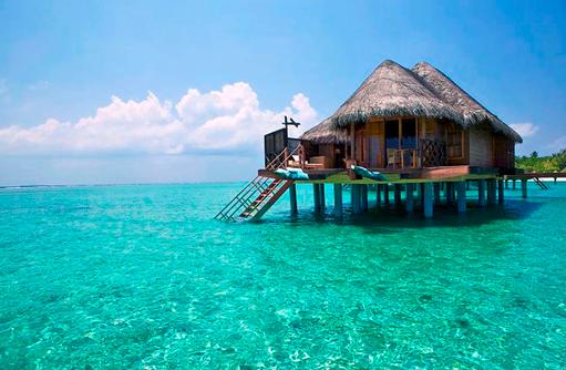 Water Villa, Zugang zum Meer I Kanuhura Maldives