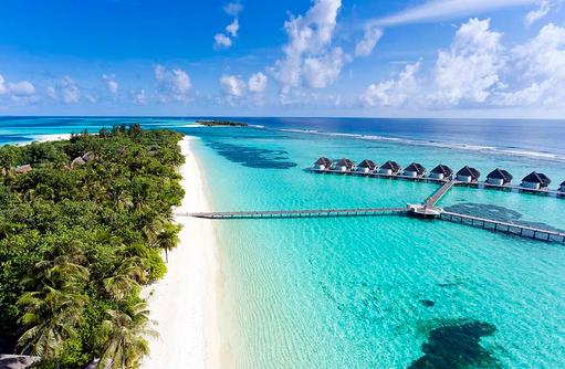 Blau in Blau und dazu Palmen und Strand I Kanuhura Maldives