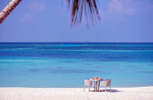 Frühstück für zwei am Strand I Kanuhura Maldives