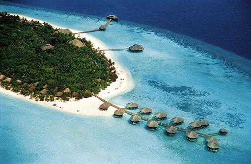 Luftaufnahme, Vogelperspektive, Kihaa Maldives