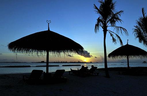 Sonnenuntergang, Komandoo Island Resort, Maldives