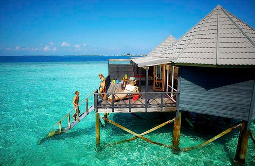 Jacuzzi Wasser Villa mit Terrasse, Komandoo Island Resort, Maldives