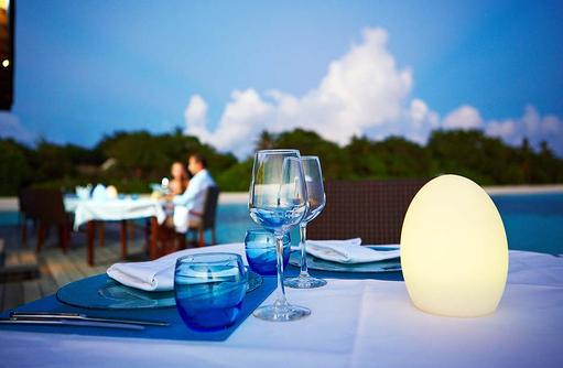 Tischgedeck,Komandoo Island Resort, Maldives