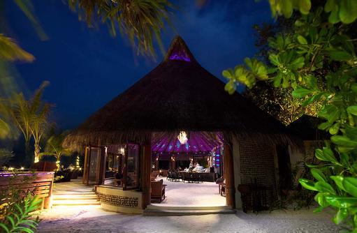Eingang der Kandu Bar, Komandoo Island Resort, Maldives
