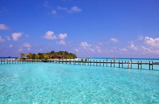 Island Jetty, Komandoo Island Resort, Maldives