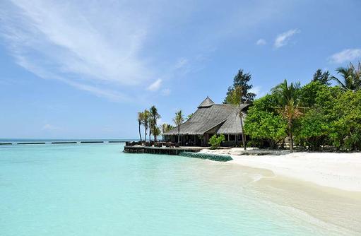 Restaurant am Strand, Komandoo Island Resort, Maldives