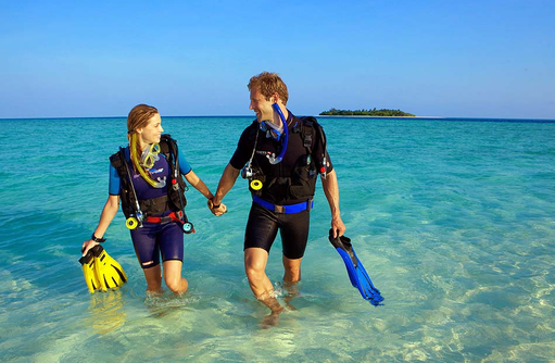 Tauchen am Hausriff, Komandoo Island Resort, Maldives