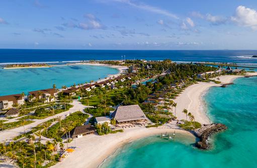 Drohnenaufnahme, Kuda Villingili Resort Maldives