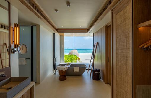 Badezimmer, Kuda Villingili Resort Maldives