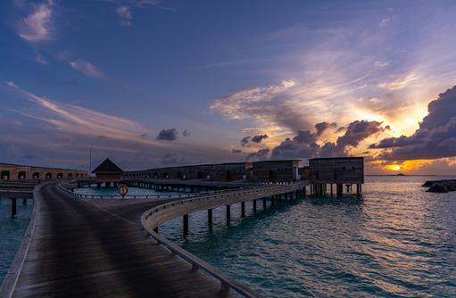 Abenddämmerung, Kuda Villingili Resort Maldives