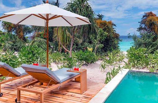 Beach Villa mit Pool, Sonnenterrasse, Kudafushi Resort & Spa, Maldives