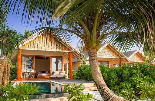 Beach Villa mit Pool, Aussenansicht, Kudafushi Resort & Spa, Maldives