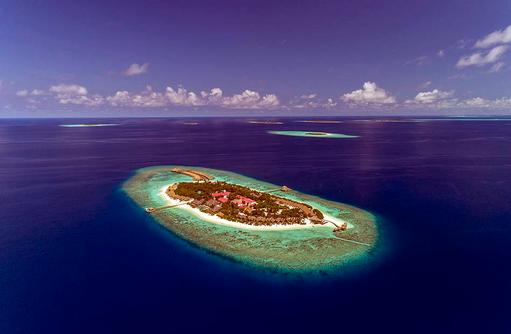 Luftansicht auf Kudafushi Resort & Spa, Maldives