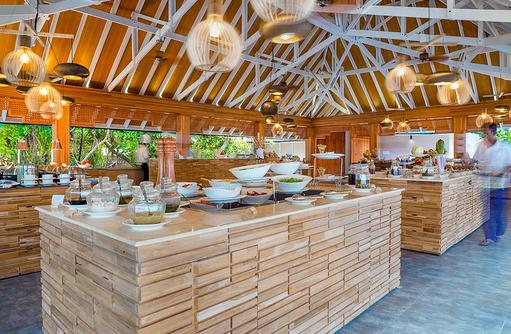 De North Hauptrestaurant, Buffet, Kudafushi Resort & Spa, Maldives