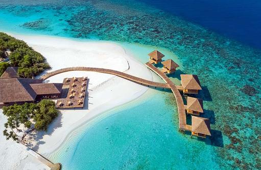 Sea Edge De Bar & Grill Restaurant von oben, Kudafushi Resort & Spa, Maldives