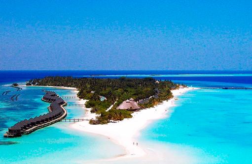 Inselansicht, Kuredu Island Resort, Maldives