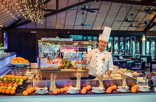 Lily Maa Buffet Restaurant, Frühstück, Lily Beach Resort & SPA, Malediven