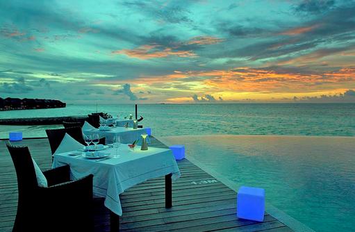 Le Turqoise d'Aqua Gourmetrestaurant, Terrasse, Lily Beach Resort & SPA, Malediven
