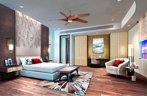 Schlafzimmer, Beach Villa, LUX* North Male Atoll, Malediven