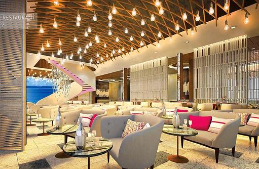 Hauptrestaurant, Bar, Innenansicht, LUX* North Male Atoll, Malediven