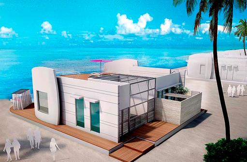 Beach Villa, Blick in Richtung Meer, LUX* North Male Atoll, Malediven