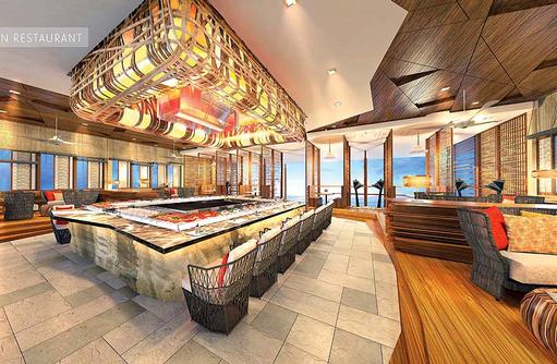 Asiatisches Restaurant, Innen, LUX* North Male Atoll, Malediven