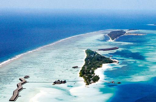 Resort von oben, Luftaufnahme I LUX South Ari Atoll