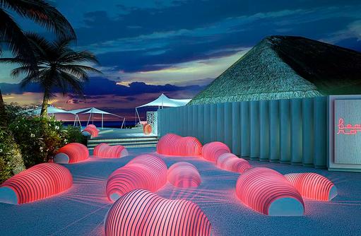 Beach Rouge, Restaurant, Bar, Club, Eingangsbereich I LUX South Ari Atoll