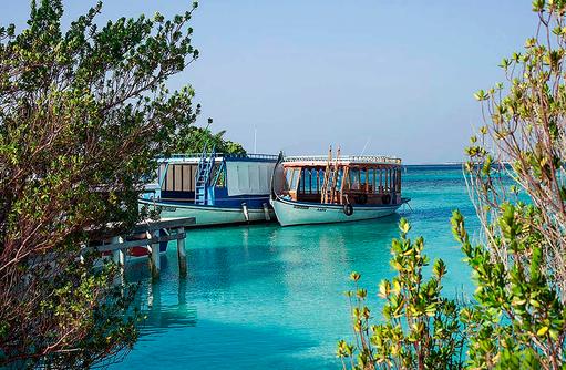 traditionelle Dhoni Boote I Makunudu Island Resort