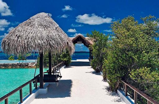 Weg mit Schaukel I Makunudu Island Resort