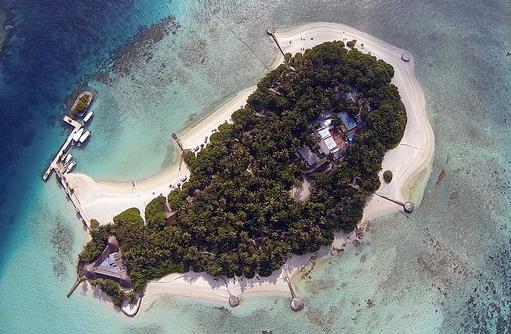 Insel, Luftaufnahme I Makunudu Island Resort