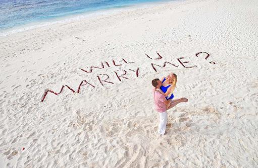 Heiratsantrag, Ja ich will, Heiraten auf den Malediven, Malahini Kuda Bandos, Malediven