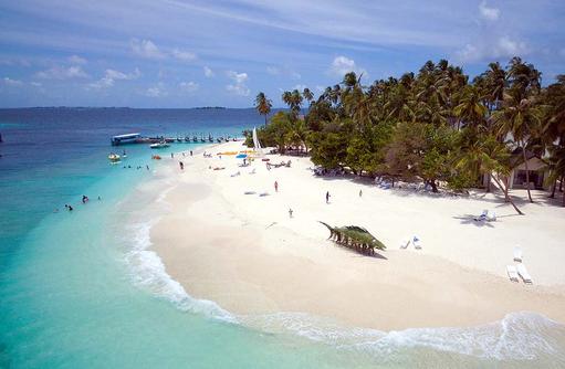 Strand, Wassersport Center, Malahini Kuda Bandos, Malediven